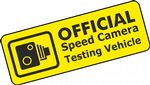 SPEED CAMERA TEST VEHICLE Funny Rat Look JDM Euto Style Vinyl Car Sticker Decal 150x55mm